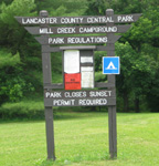 Mill Creek Camping Area sign